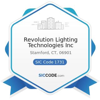 Revolution Lighting Technologies Inc - SIC Code 1731 - Electrical Work