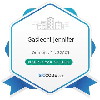 Gasiechi Jennifer - NAICS Code 541110 - Offices of Lawyers