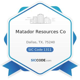 Matador Resources Co - SIC Code 1311 - Crude Petroleum and Natural Gas