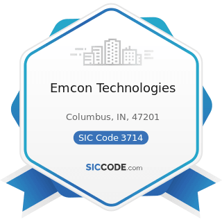 Emcon Technologies - SIC Code 3714 - Motor Vehicle Parts and Accessories