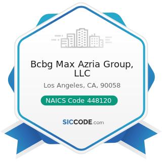 Bcbg Max Azria Group, LLC - NAICS Code 448120 - Women's Clothing Stores