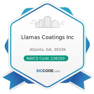 Llamas Coatings Inc - NAICS Code 238320 - Painting and Wall Covering Contractors