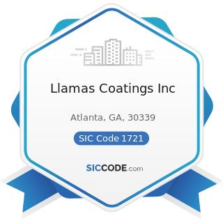Llamas Coatings Inc - SIC Code 1721 - Painting and Paper Hanging