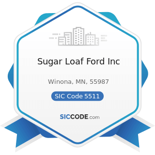 Sugar Loaf Ford Inc - SIC Code 5511 - Motor Vehicle Dealers (New and Used)
