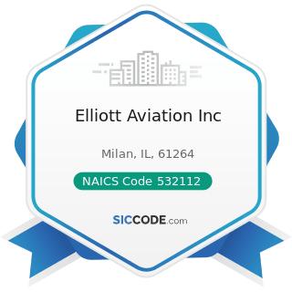 Elliott Aviation Inc - NAICS Code 532112 - Passenger Car Leasing