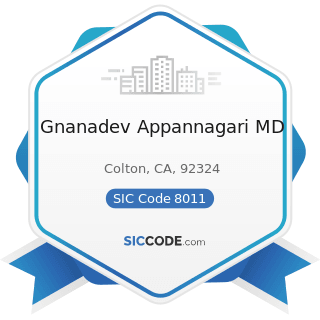 Gnanadev Appannagari MD - SIC Code 8011 - Offices and Clinics of Doctors of Medicine