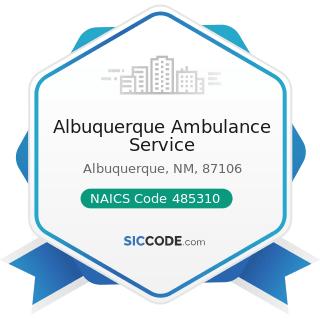 Albuquerque Ambulance Service - NAICS Code 485310 - Taxi Service
