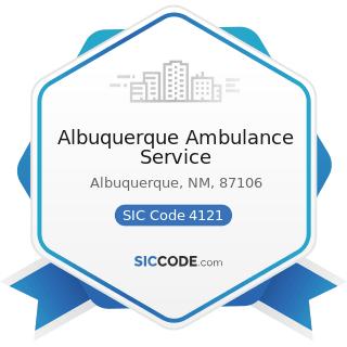 Albuquerque Ambulance Service - SIC Code 4121 - Taxicabs
