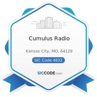 Cumulus Radio - SIC Code 4832 - Radio Broadcasting Stations