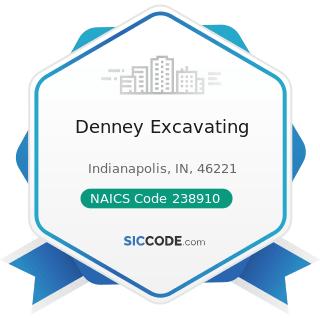 Denney Excavating - NAICS Code 238910 - Site Preparation Contractors