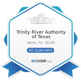 Trinity River Authority of Texas - SIC Code 4953 - Refuse Systems