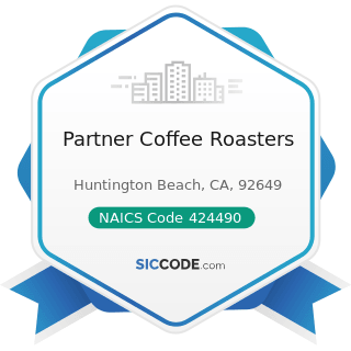 Partner Coffee Roasters - NAICS Code 424490 - Other Grocery and Related Products Merchant...