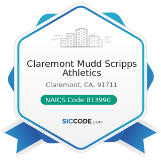 Claremont Mudd Scripps Athletics - NAICS Code 813990 - Other Similar Organizations (except...