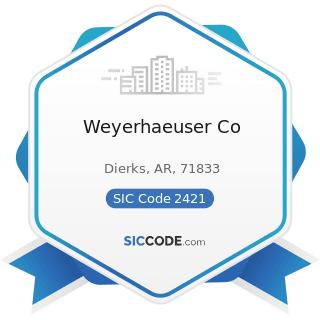 Weyerhaeuser Co - SIC Code 2421 - Sawmills and Planing Mills, General