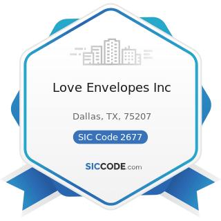 Love Envelopes Inc - SIC Code 2677 - Envelopes