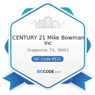 CENTURY 21 Mike Bowman Inc - SIC Code 6531 - Real Estate Agents and Managers