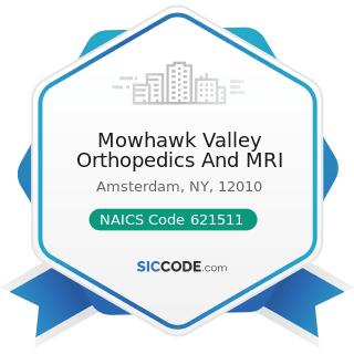 Mowhawk Valley Orthopedics And MRI - NAICS Code 621511 - Medical Laboratories