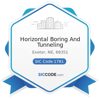 Horizontal Boring And Tunneling - SIC Code 1781 - Water Well Drilling