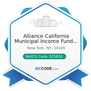 Alliance California Municipal Income Fund Inc - NAICS Code 525910 - Open-End Investment Funds