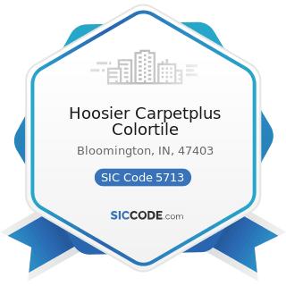 Hoosier Carpetplus Colortile - SIC Code 5713 - Floor Covering Stores