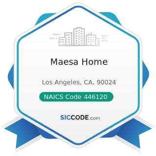 Maesa Home - NAICS Code 446120 - Cosmetics, Beauty Supplies, and Perfume Stores