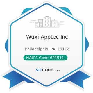 Wuxi Apptec Inc - NAICS Code 621511 - Medical Laboratories