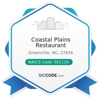 Coastal Plains Restaurant - NAICS Code 561110 - Office Administrative Services