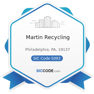 Martin Recycling - SIC Code 5093 - Scrap and Waste Materials
