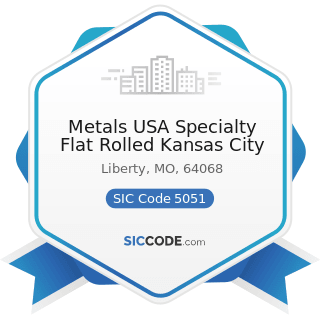 Metals USA Specialty Flat Rolled Kansas City - SIC Code 5051 - Metals Service Centers and Offices