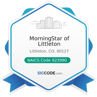 MorningStar of Littleton - NAICS Code 623990 - Other Residential Care Facilities