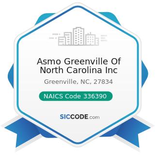 Asmo Greenville Of North Carolina Inc - NAICS Code 336390 - Other Motor Vehicle Parts...
