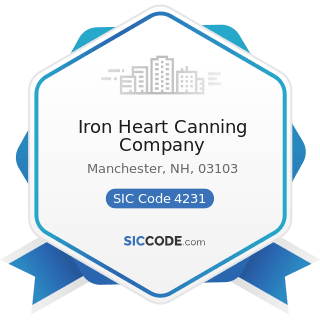 Iron Heart Canning Company - SIC Code 4231 - Terminal and Joint Terminal Maintenance Facilities...