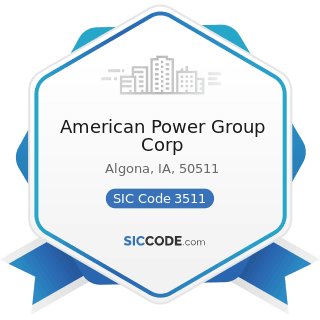 American Power Group Corp - SIC Code 3511 - Steam, Gas, and Hydraulic Turbines, and Turbine...