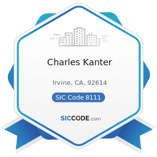 Charles Kanter - SIC Code 8111 - Legal Services