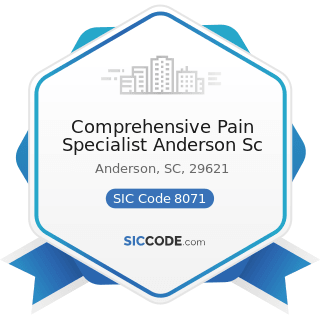 Comprehensive Pain Specialist Anderson Sc - SIC Code 8071 - Medical Laboratories