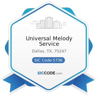 Universal Melody Service - SIC Code 5736 - Musical Instrument Stores