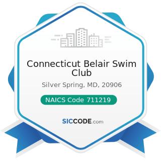 Connecticut Belair Swim Club - NAICS Code 711219 - Other Spectator Sports
