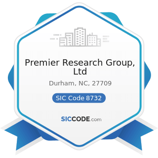 Premier Research Group, Ltd - SIC Code 8732 - Commercial Economic, Sociological, and Educational...