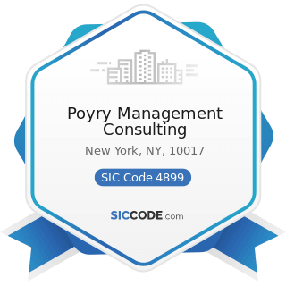 Poyry Management Consulting - SIC Code 4899 - Communication Services, Not Elsewhere Classified