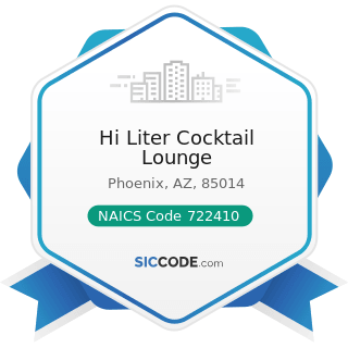 Hi Liter Cocktail Lounge - NAICS Code 722410 - Drinking Places (Alcoholic Beverages)