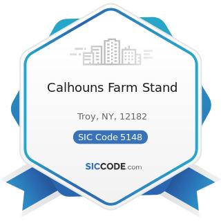 Calhouns Farm Stand - SIC Code 5148 - Fresh Fruits and Vegetables