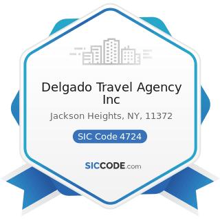 Delgado Travel Agency Inc - SIC Code 4724 - Travel Agencies