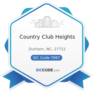 Country Club Heights - SIC Code 7997 - Membership Sports and Recreation Clubs