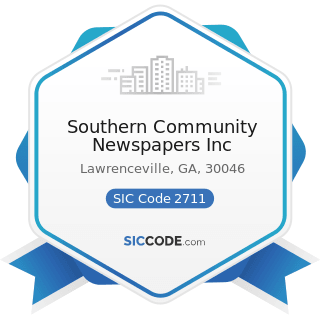 Southern Community Newspapers Inc - SIC Code 2711 - Newspapers: Publishing, or Publishing and...