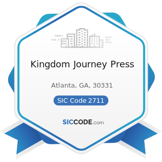 Kingdom Journey Press - SIC Code 2711 - Newspapers: Publishing, or Publishing and Printing