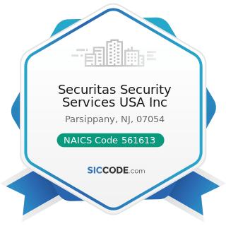 Securitas Security Services USA Inc - NAICS Code 561613 - Armored Car Services