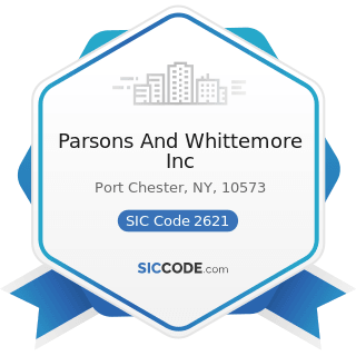 Parsons And Whittemore Inc - SIC Code 2621 - Paper Mills