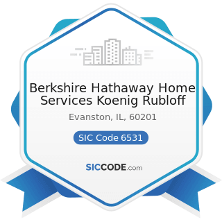 Berkshire Hathaway Home Services Koenig Rubloff - SIC Code 6531 - Real Estate Agents and Managers