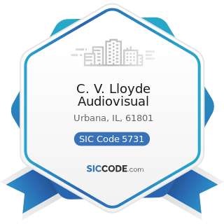 C. V. Lloyde Audiovisual - SIC Code 5731 - Radio, Television, and Consumer Electronics Stores