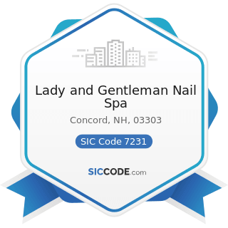 Lady and Gentleman Nail Spa - SIC Code 7231 - Beauty Shops